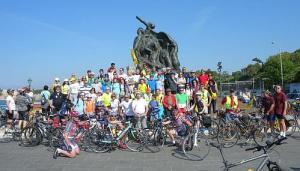 Genueser Radler am nationalen Fahrradtag