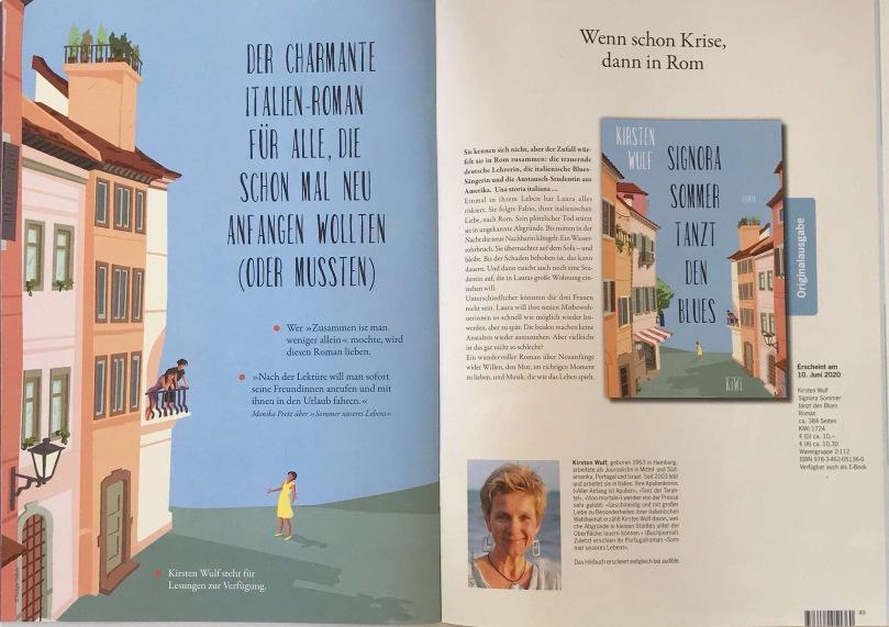 """""""Signora Sommer tanzt den Blues"""" - hier die Vorschau im Katalog, ab 10. Juni 2020 im Buchhandel."""